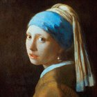 他の写真1: トレシー® 名画シリーズ A1919P-MEIGA  19×19cm  真珠の耳飾りの少女